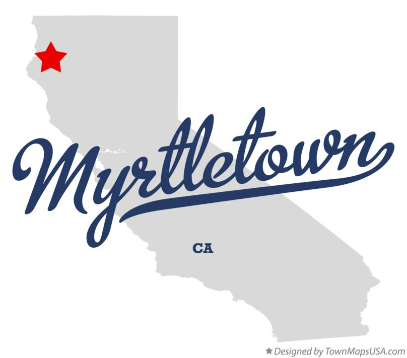 Map of Myrtletown California CA