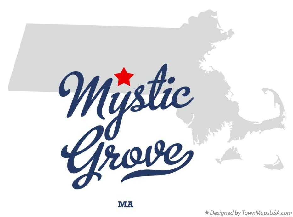 Map of Mystic Grove Massachusetts MA