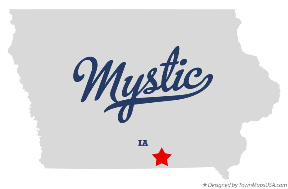 Map of Mystic Iowa IA