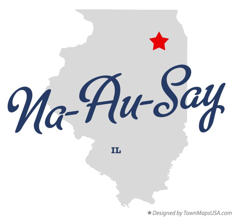 Map of Na-Au-Say Illinois IL