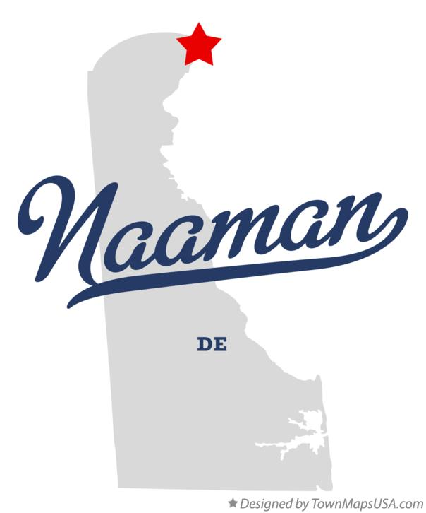 Map of Naaman Delaware DE