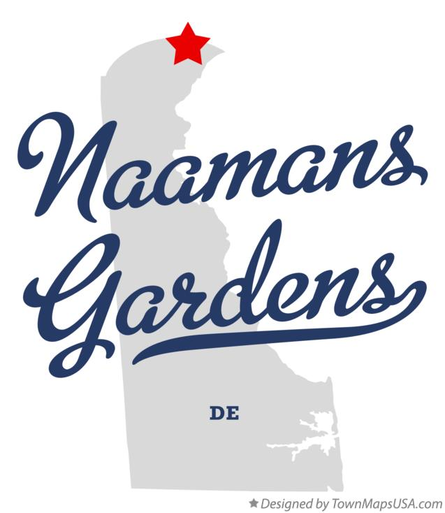 Map of Naamans Gardens Delaware DE