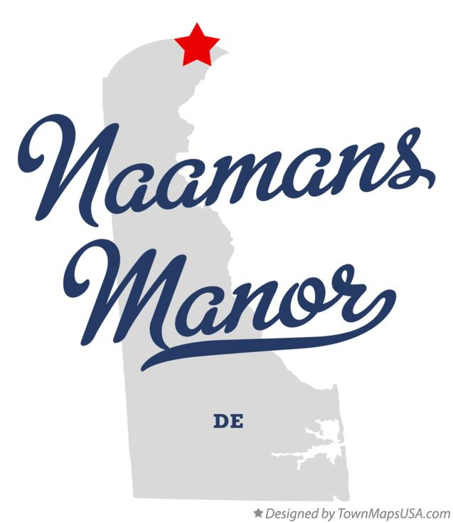 Map of Naamans Manor Delaware DE