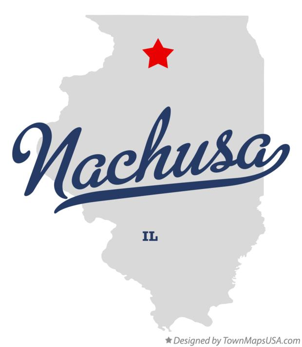 Map of Nachusa Illinois IL