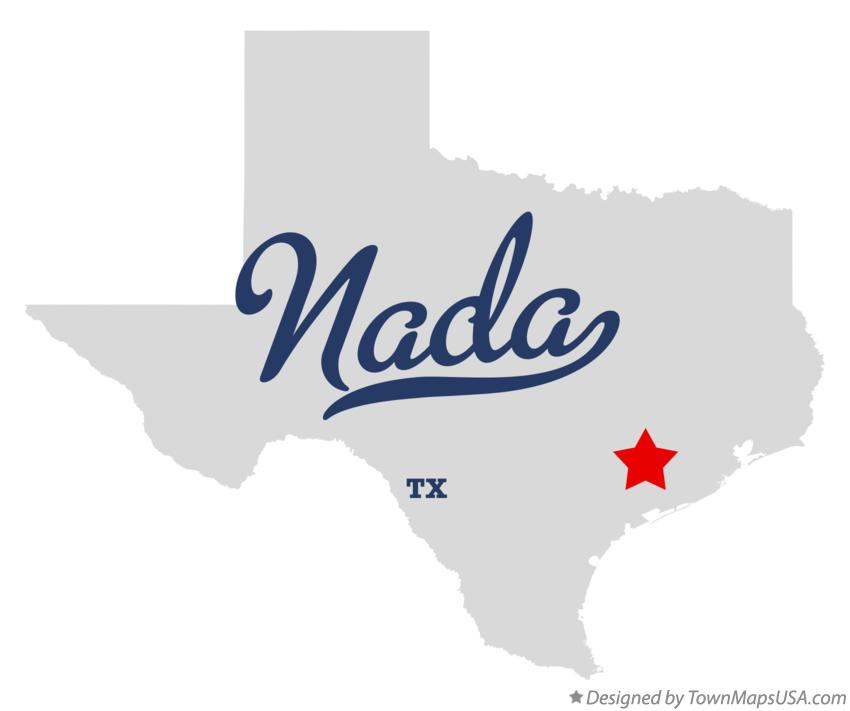 Map of Nada Texas TX