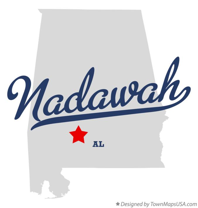 Map of Nadawah Alabama AL