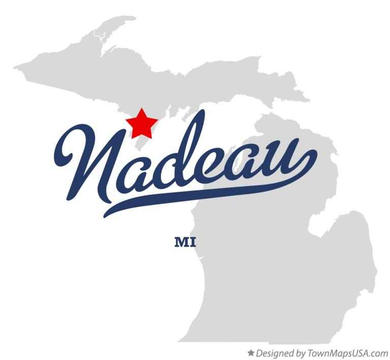 Map of Nadeau Michigan MI