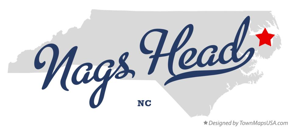 Map of Nags Head North Carolina NC