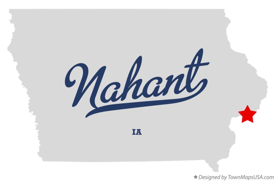 Map of Nahant Iowa IA
