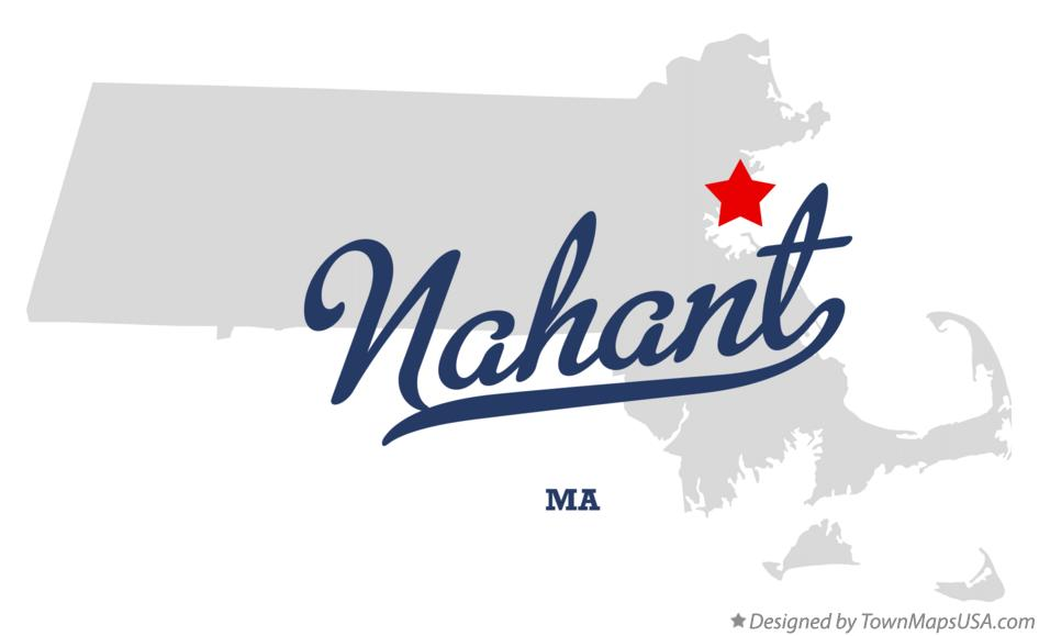 Map of Nahant Massachusetts MA