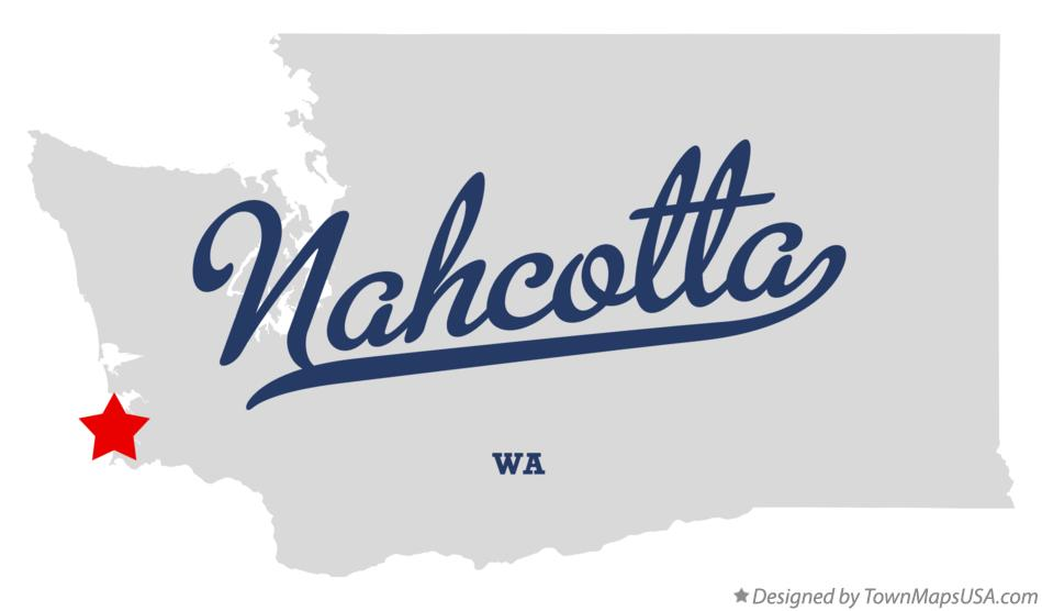 Map of Nahcotta Washington WA