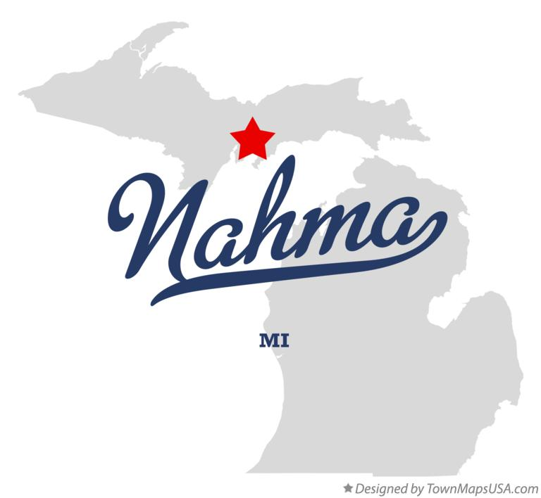 Map of Nahma Michigan MI