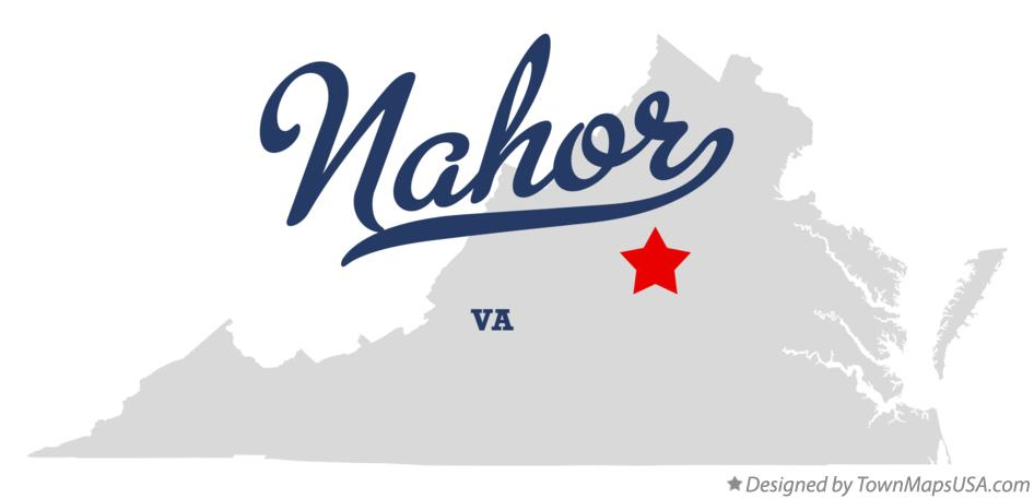 Map of Nahor Virginia VA