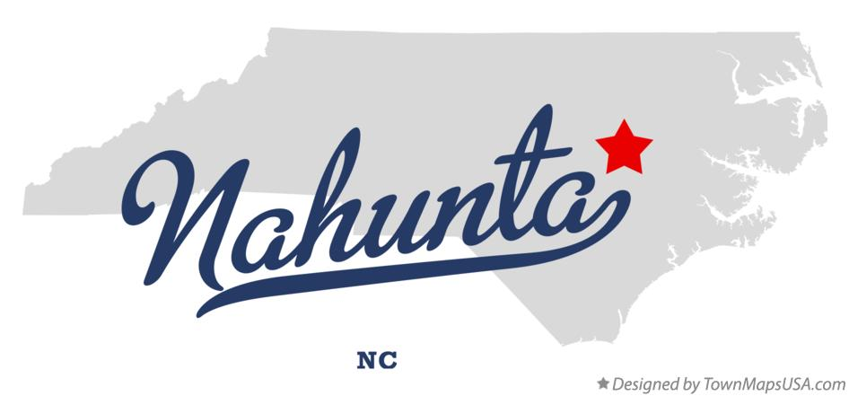 Map of Nahunta North Carolina NC