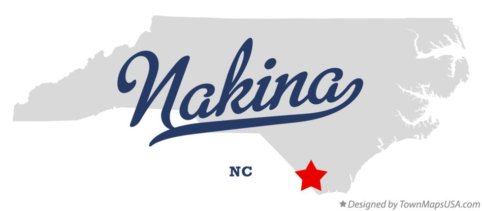 Map of Nakina North Carolina NC