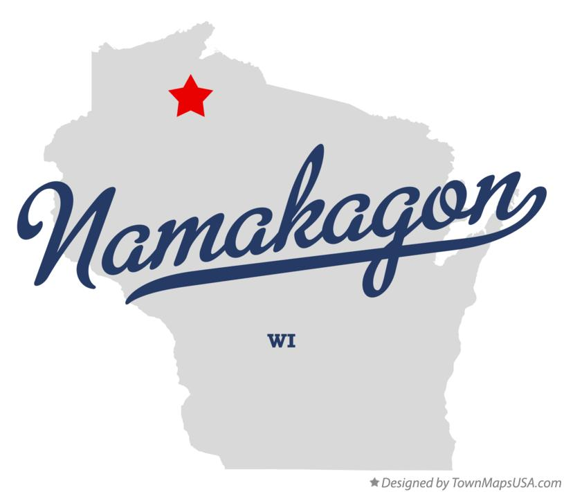 Map of Namakagon Wisconsin WI