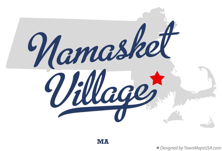Map of Namasket Village Massachusetts MA