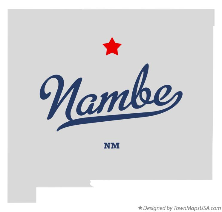 Map of Nambe New Mexico NM