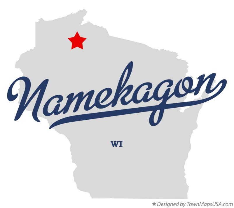 Map of Namekagon Wisconsin WI