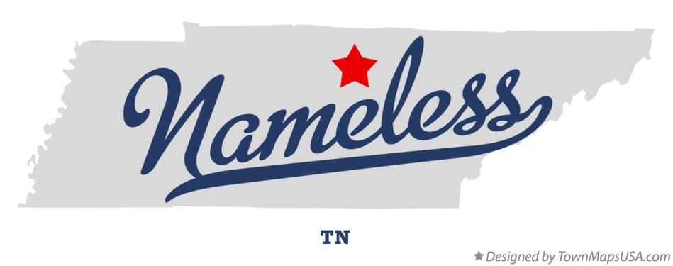 Map of Nameless Tennessee TN