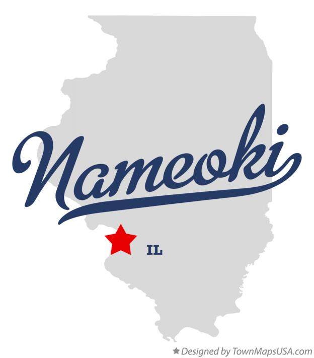 Map of Nameoki Illinois IL