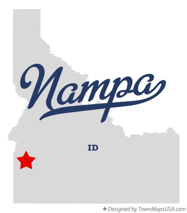 Map of Nampa, ID, Idaho