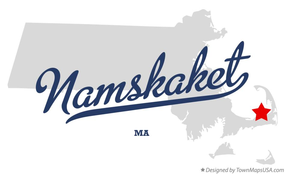 Map of Namskaket Massachusetts MA