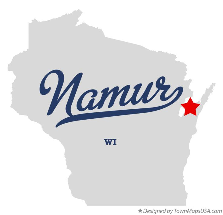 Map of Namur Wisconsin WI