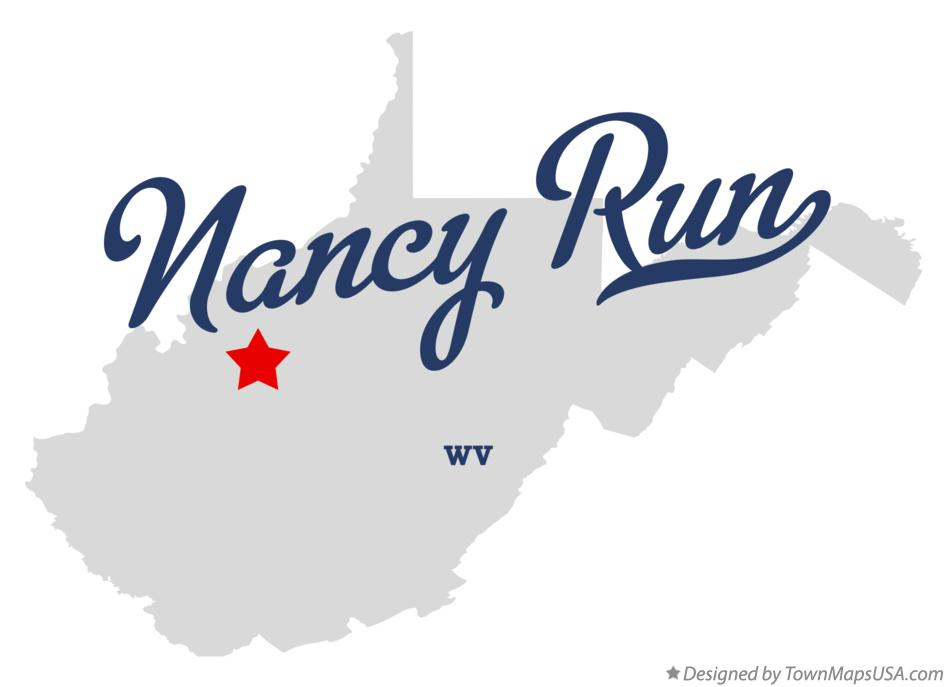 Map of Nancy Run West Virginia WV