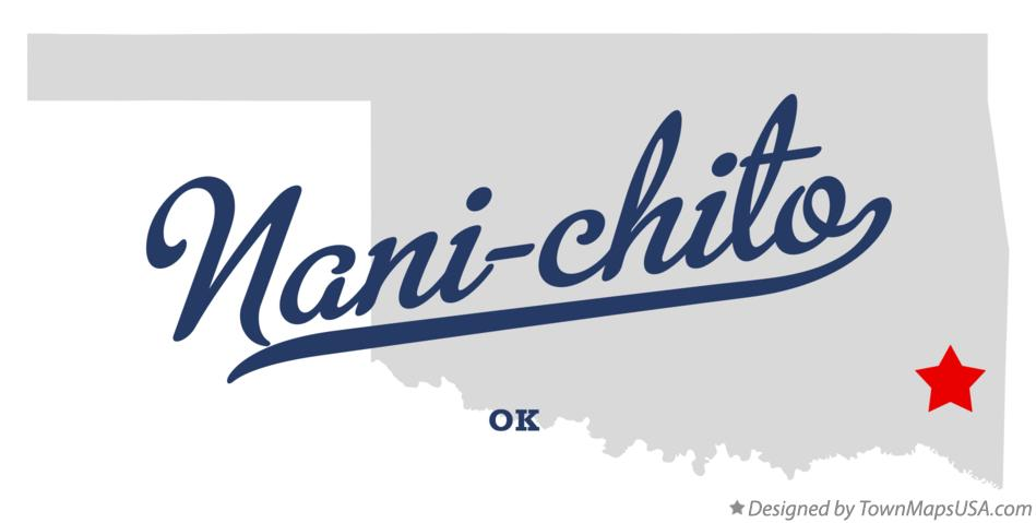 Map of Nani-chito Oklahoma OK