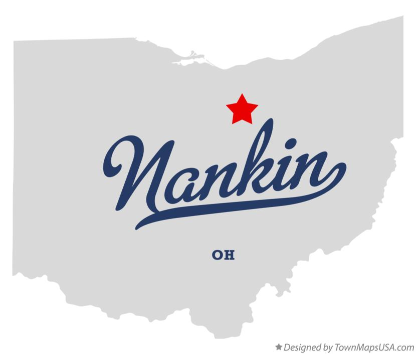 Map of Nankin Ohio OH