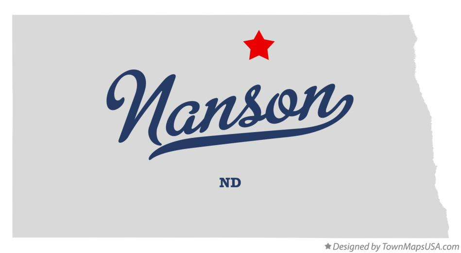 Map of Nanson North Dakota ND