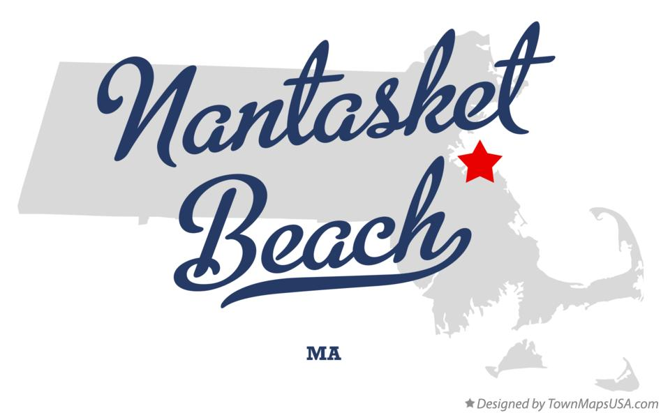 Map of Nantasket Beach Massachusetts MA