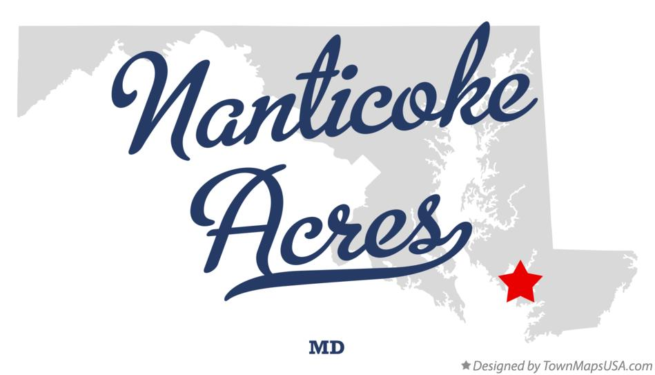 Map of Nanticoke Acres Maryland MD