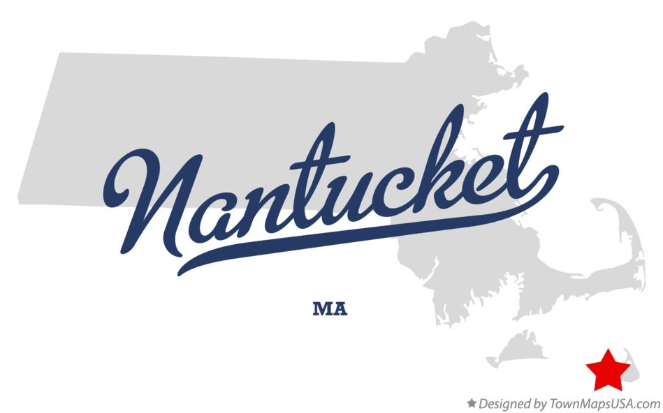 Map of Nantucket Massachusetts MA
