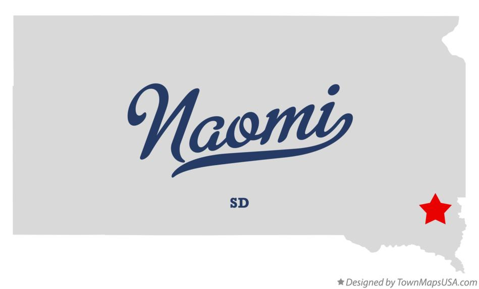 Map of Naomi South Dakota SD