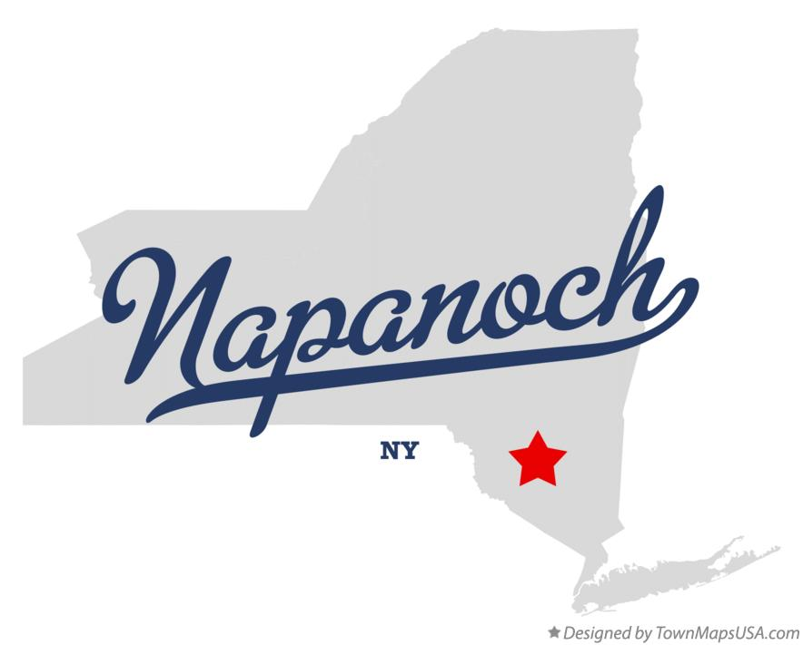 Map of Napanoch New York NY