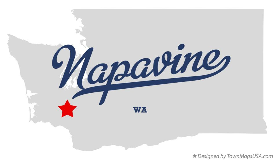 Map of Napavine Washington WA