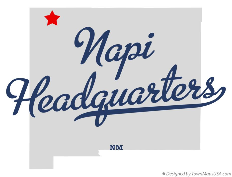 Map of Napi Headquarters New Mexico NM