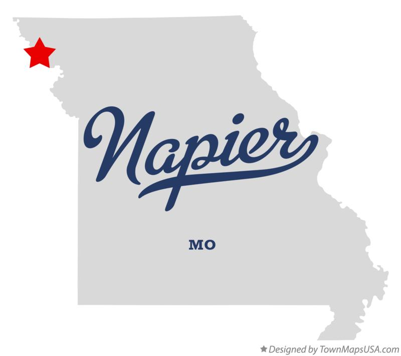 Map of Napier Missouri MO