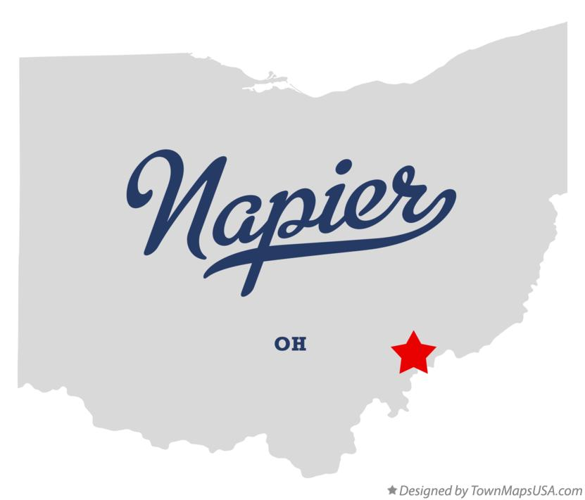 Map of Napier Ohio OH
