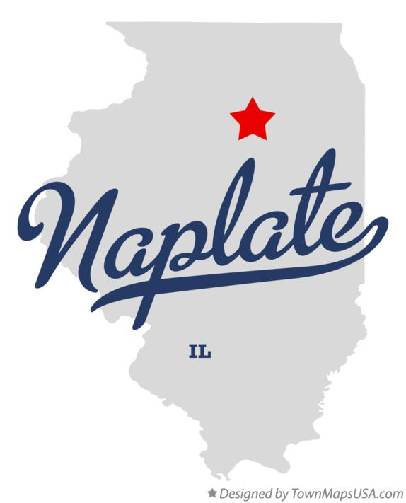 Map of Naplate Illinois IL