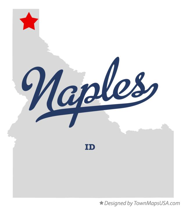 Map of Naples Idaho ID