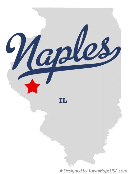 Map of Naples Illinois IL