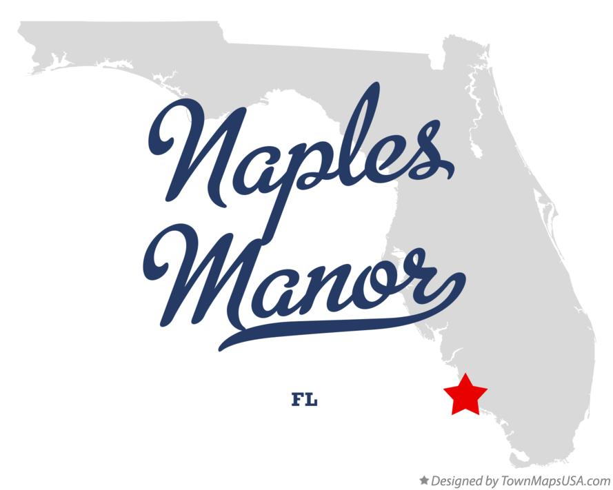 Map of Naples Manor Florida FL
