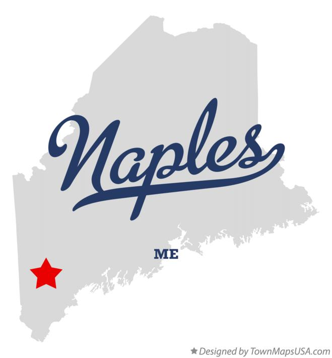 Map of Naples Maine ME