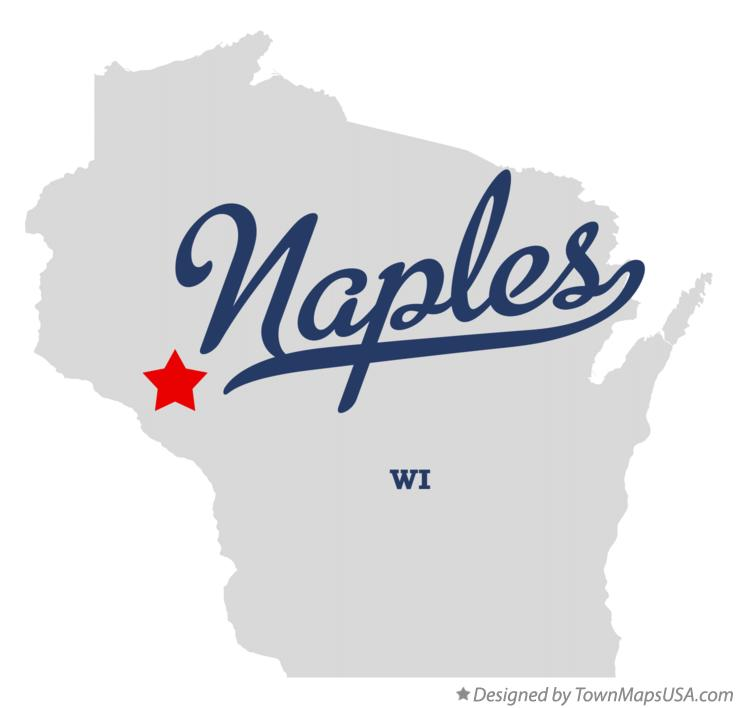 Map of Naples Wisconsin WI
