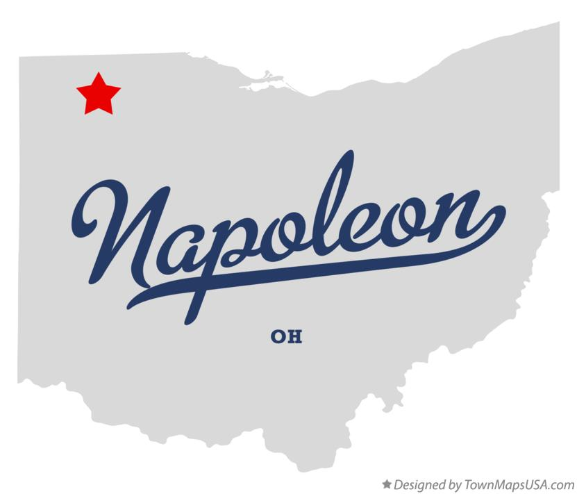 Map of Napoleon Ohio OH