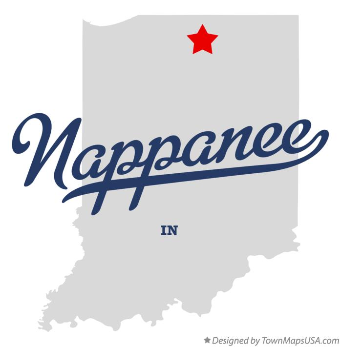 Map of Nappanee Indiana IN
