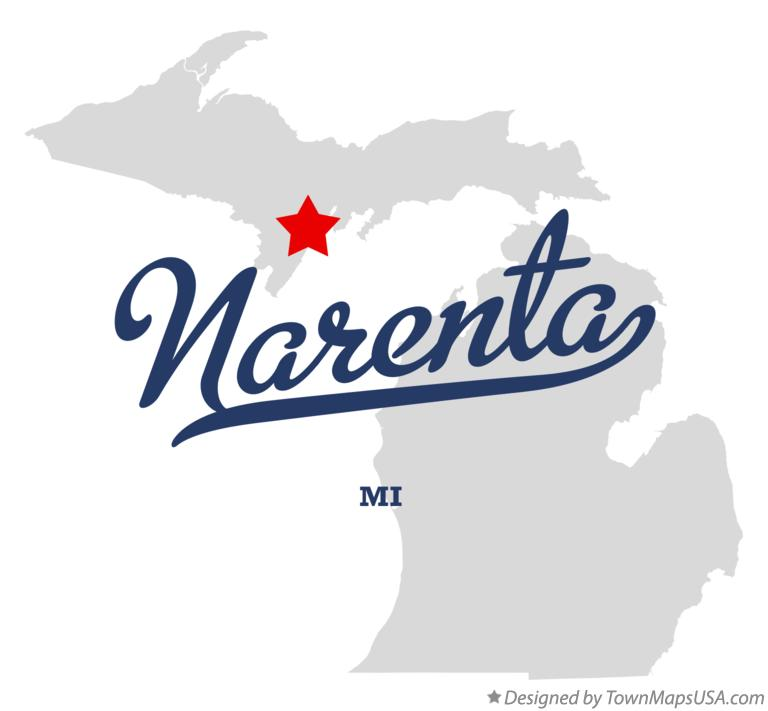 Map of Narenta Michigan MI